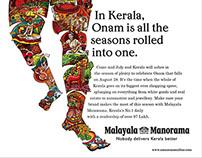 Malayala Manorama Onam Trade ad Illustration