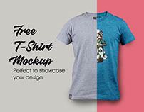 Free Color Changeable T-Shirt Mockup