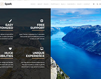 Spark WordPress Theme - Overlay Section