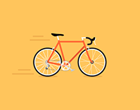 Road Bike animation for Strava Cycling