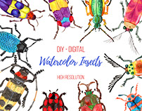 Watercolor Insects (Bugs!)