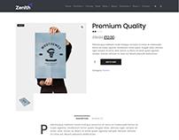 Product Page - Zenith WordPress Theme