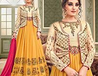 Indo Western Dresses With Jacket Style DesignersAndYou