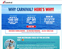 Why Carnival? Landing Page