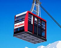 Les Houches Ski Poster