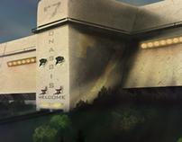 """FortCity Wall"" Digital Illustration"
