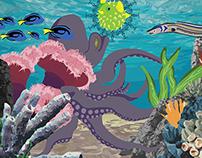 Octopus Garden Digital Illustration