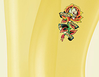 Ed Hardy Tattoo Stickers Poster Campaign
