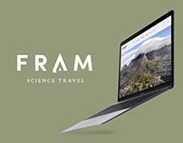 FRAM Science Travel – Webdesign
