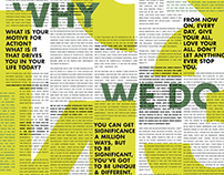 Why We Do What We Do - TED Talk Typography Poster