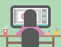 Diseñadora Gráfica ilustración