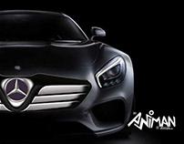 MERCEDES BENZ AMG GT FRONT VISION DESIGN