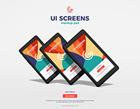 Free UI Screens Mockup PSD
