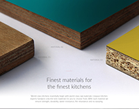 Kitchen landing page design for Livspace