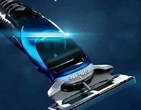 Gillette Proglide Styler Razor_modeling