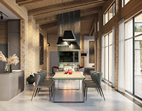 3D Rendering for an LA Smart House Interior Design