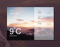 Freebie - Weather Widget Ui Design