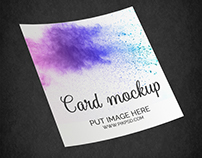 Free Square Paper Flyer Poster Mockup