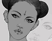 Pencil drawings Vol.VI