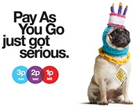 Three - Pay As You Go (online media + DOOH) (2012)
