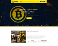 Cryptolia - Cryptocurrency Website DEsign