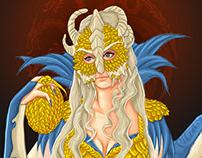 Daenerys Targaryen in baroque style