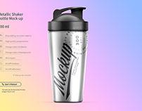 Metallic Shaker Bottle Mock-up 700 ml