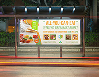 Breakfast Restaurant Billboard Template Vol2