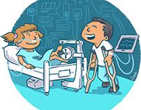 Illustratie Patienten Mobiliseren - Erasmus MC - Sophia