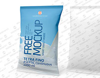 Free Mock-up of Tetra Fino Aseptic 1000ml