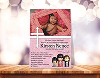 Baptism Invitation- Kirsten Renee
