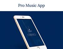 Pro Music App UI Design