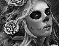 Candy Skull Portrait