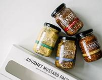 Smak Dab Gourmet Mustard Branding & Packaging Design