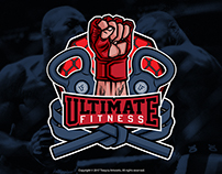 Ultimate Fitness Emblem Logo