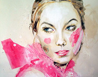 Fashion illustration - Karlie Kloss celebrity portrait