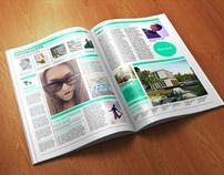 Photorealistic Magazine Mock-up / 3D Visualization
