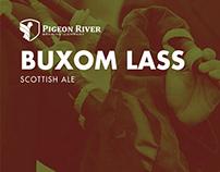 Pigeon River Buxom Lass Scottish Ale Identity