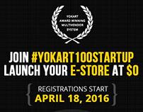 Entrepreneurs get ready for #YoKart100Startups
