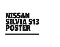 Nissan Silvia S13 Poster