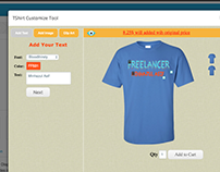 eCommerce Tshirt Customization and variations