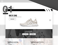 Adidas Web Design