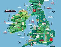 Shorlist mag - UK & Ireland map illustration
