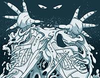 Atmos x Asics Tiger Gel Lyte III Sneaker Art