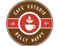 Creación de Logotipo - Café Estudio Belly Happy