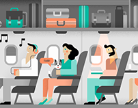 Airlines — Illustrations, icons, infographic