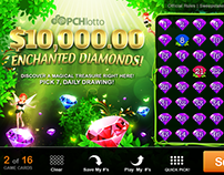 Lotto Cards-Enchanted Diamonds