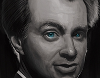 christopher nolan digital painting