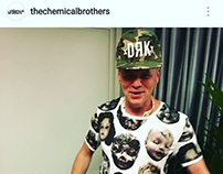 Tee design for The Chemical Brothers DRK-Sziget SS16