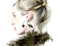 Fashion week fall 2017 illustrations